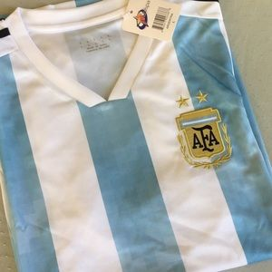 Argentina Jersey Soccer Team L NWT